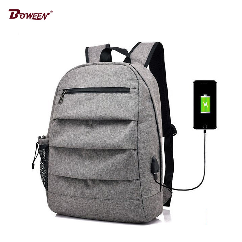 все цены на USB Charging Canvas backpack schoolbag for boys men teen girls school bags backpack male rucksack women Back pack 2018
