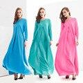 2015 Мусульманин абая платье для женщин Исламского платья дубай кафтан Исламская одежда Мусульманская абая Платье турецкий джилбаба хиджаб 304