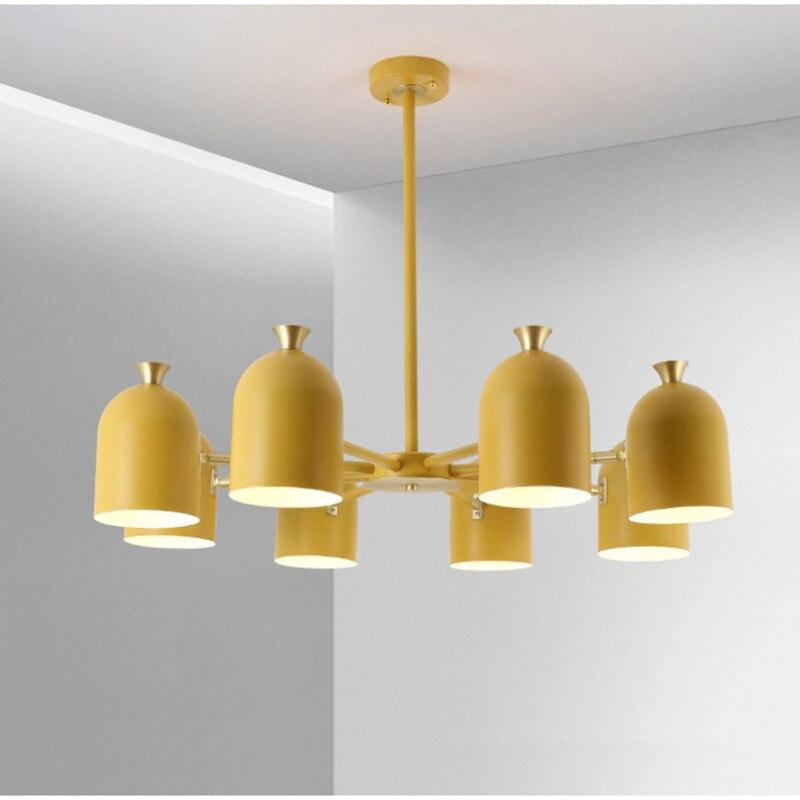 LED d'intérieur lustre de lumière d'intérieur maison décoratif coloré Suspension lampe à LED pour salon chambre salle à manger luminaire - 4