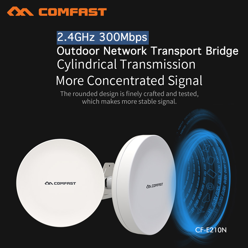 Wireless Outdoor CPE WIFI Router 300Mbs Access Point AP Router WIFI Bridge WIFI Repeater WIFI Extender Support WDS 2PCS CF-E210N comfast high power wifi repeater outdoor cpe wifi router extender 2km distance 300mbps wds wireless bridge antenna routers