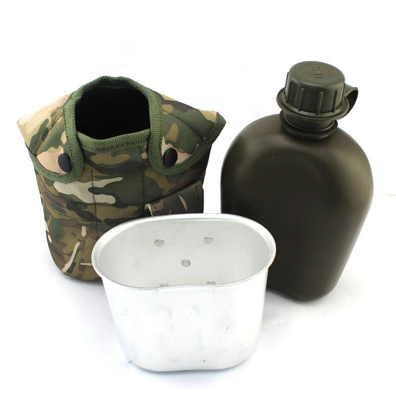 Estilo del ejército de Supervivencia Botella de Agua Taza de Camping Montañismo