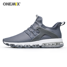 купить ONEMIX Air Cushion Men Sports Shoes Running Sneakers Outdoor Jogging Shoes Sock-Shoes Damping Cushion Sneakers for Walking дешево