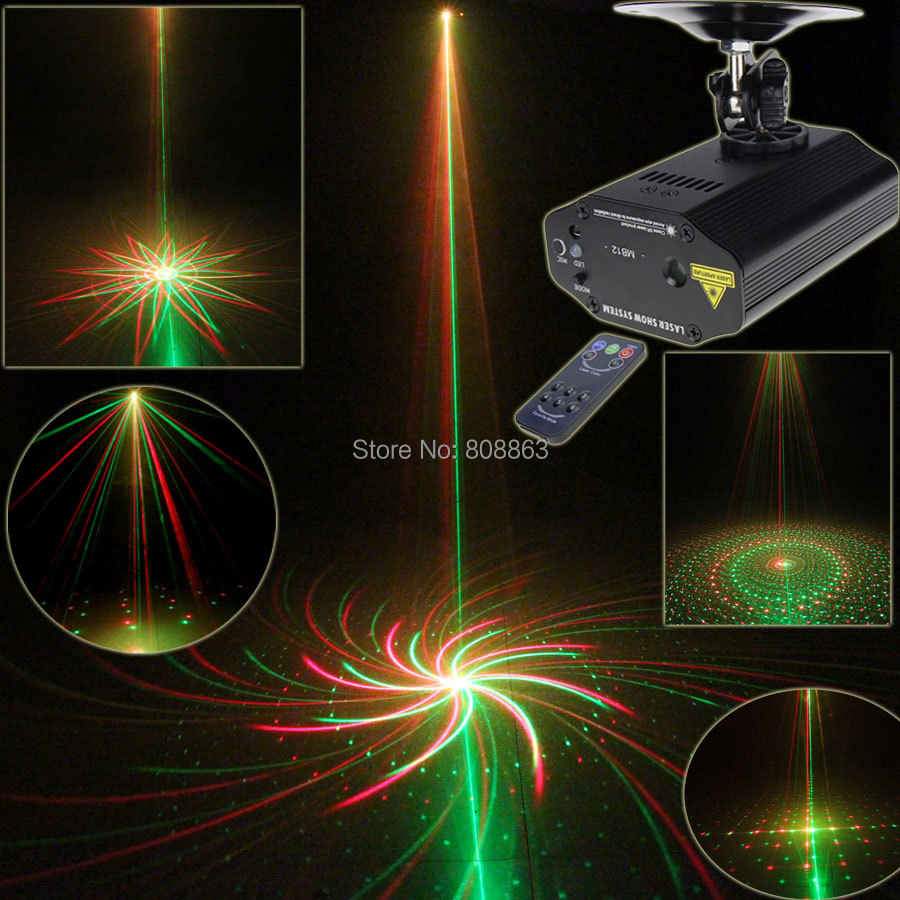 New Arrival Mini R&G Laser Projector Big 8 Patterns Dance Disco Bar Family Party Xmas Stage Lights DJ environment Light Show T9 new mini 4in1 patterns sunflower whirlwind r