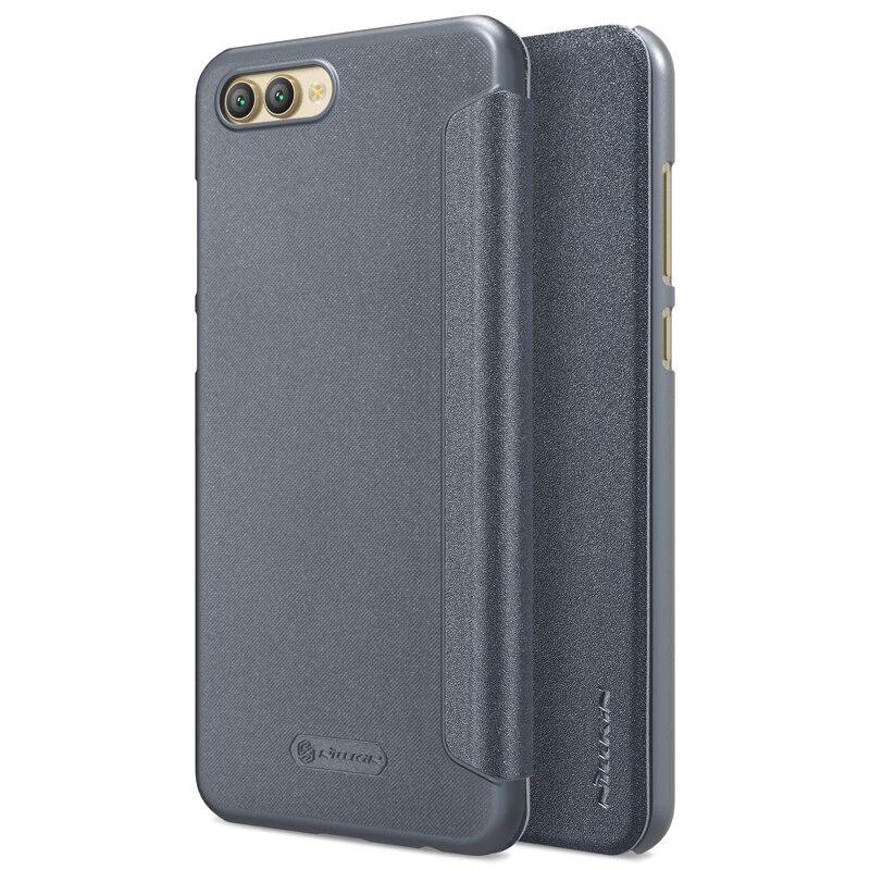 Nillkin sparkle series pu cuero Flip cubierta dura PC caso de la contraportada de plástico para Huawei honor ver 10 v10