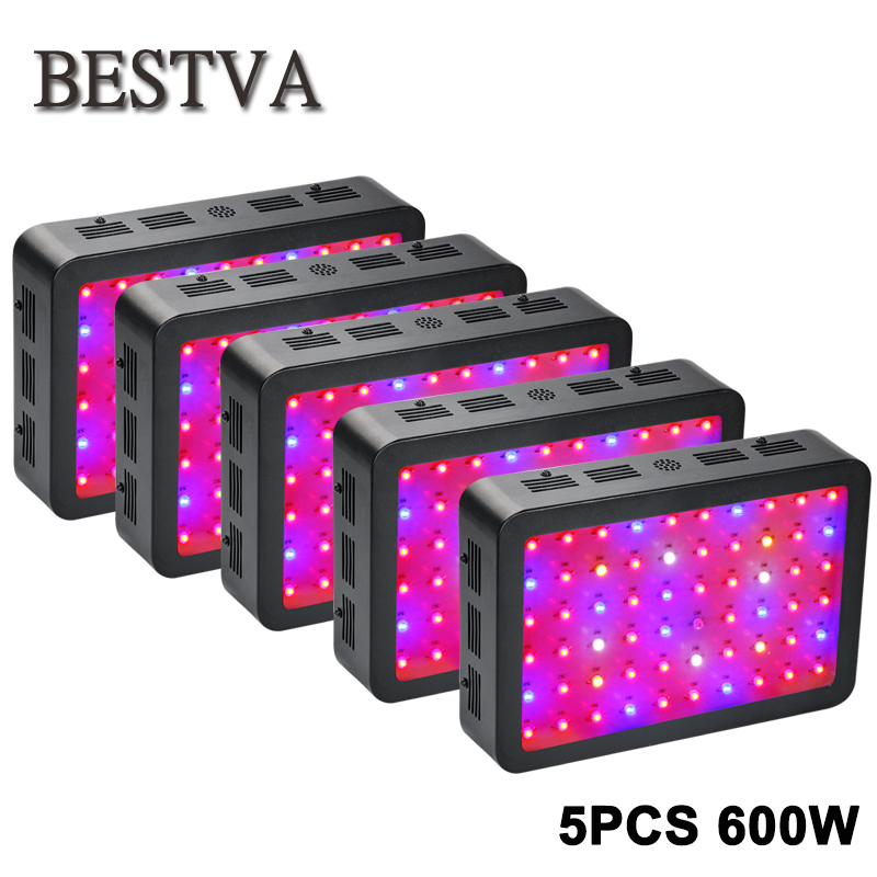 5pcs/lot led grow light 600W for indoor plants greenhouse led grow light Hydroponic Plants Veg Bloom Flowering grow led lamps 5pcs lot 90w ufo led grow light led horticulture lighting 9bands led lamp best for medicinal plants growth and flowering