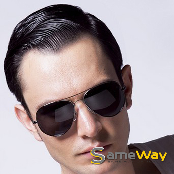 SAMEWAY OPTICAL Large Retro Aviator Style Metal Men's ...