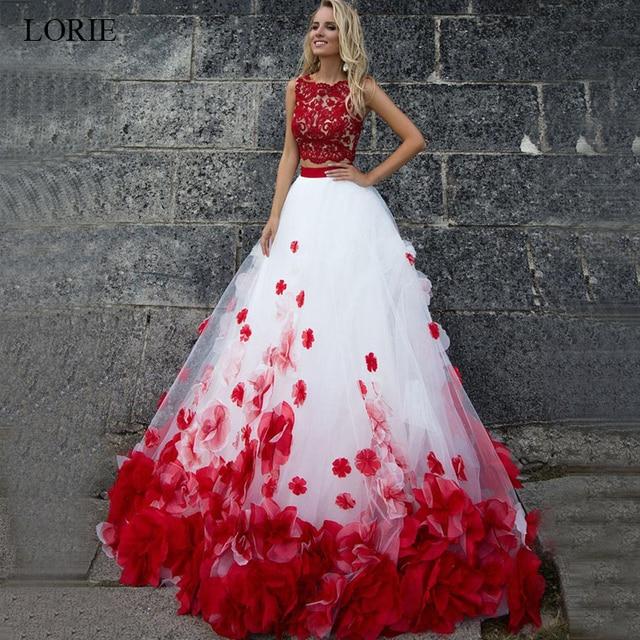 31f09c0a913 Лори белое и красное свадебное платье