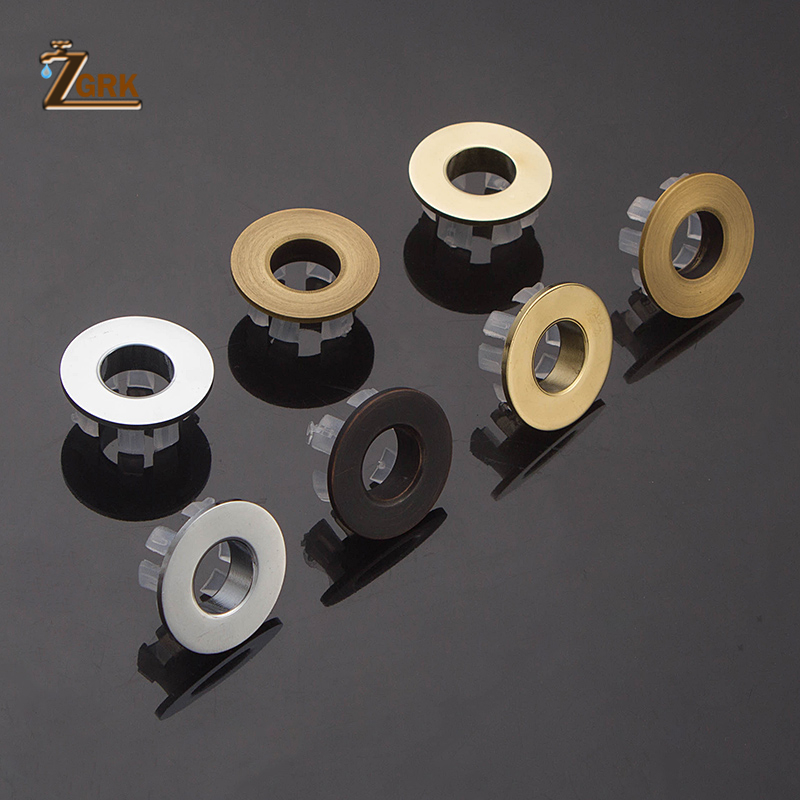 ZGRK Bathroom Parts Basin Faucet Sink Overflow Cover Brass Ring Bathroom Product Basin Tidy Insert Replacement