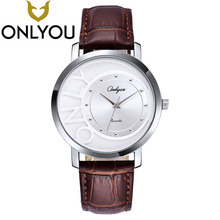 ONLYOU Famous Brand Simple Female Men Clock Quarte Watch Women Man High Quality Love's Gift Watches Wholesale