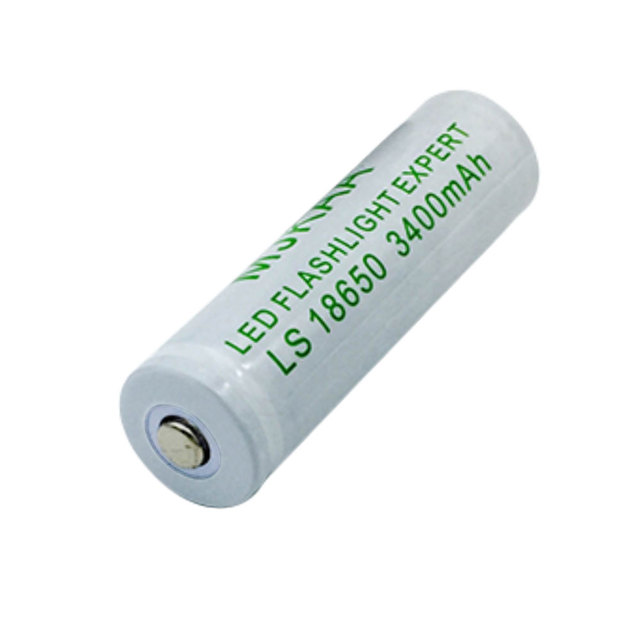 4pcs 18650 Rechargeable Battery 3.7V li-ion battery + one Charger for Led flashlight battery 18650 3400Mah