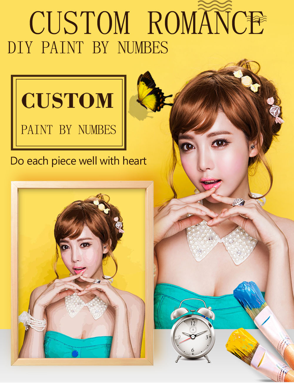 HTB12hwVasfrK1Rjy1Xdq6yemFXa1 Personality Photo Customized DIY Painting By Numbers Picture Drawing Coloring by Numbers Acrylic cat adult with frame