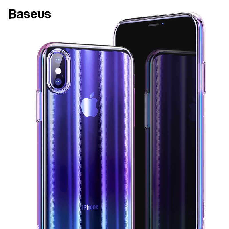 97c353271b Baseus Luxury Aurora Case For iPhone Xs XR Xs Max Covers Gradient Hard PC  Plastic Protective