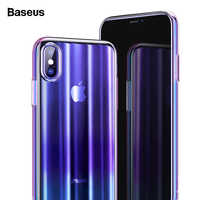 Baseus Luxury Aurora Case For iPhone Xs XR Xs Max Covers Gradient Hard PC Plastic Protective Case For iPhone Xs Back Phone Cover