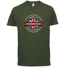 Made In HUDDERSFIELD Mens T-Shirt - Town / City - 13 Colours Print T Shirt Mens Short Sleeve Hot Tops Tshirt Homme tottenham huddersfield