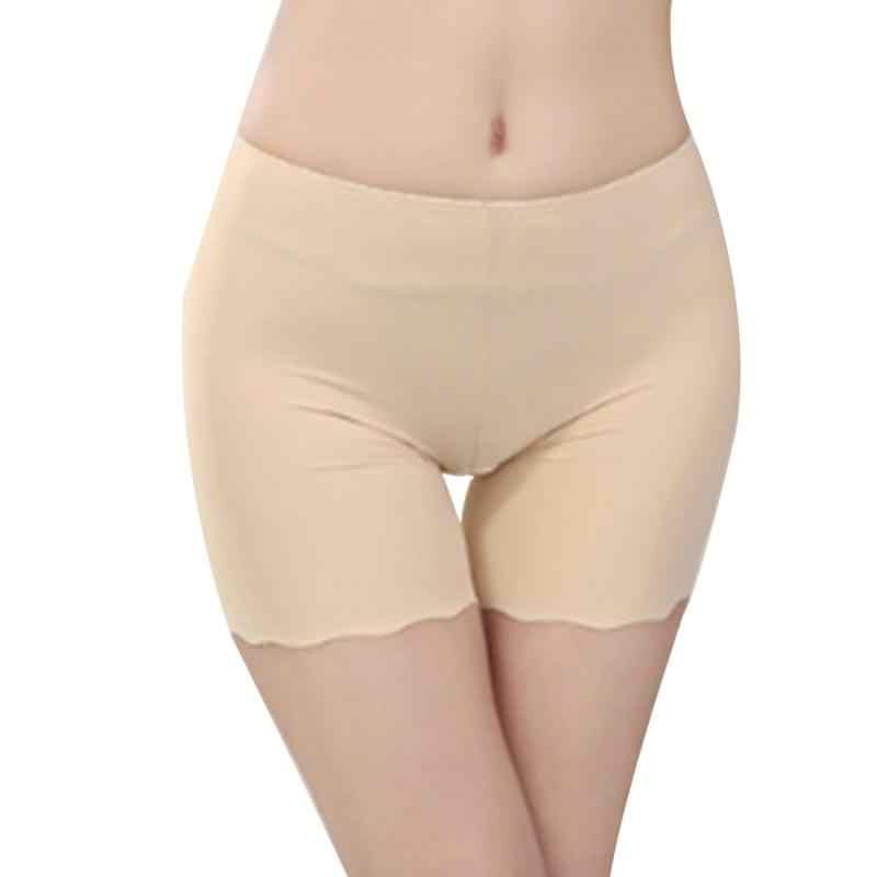 2018 gorąca sprzedaży kobiet Sexy kobiet wysokiej talii Ice Silk majtki bezszwowe elastyczne spodnie krótkie legginsy biały/czarny/skóra