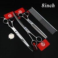 7 5 8INCH Professional Premium Sharp Edge Dog PET GROOMING SCISSORS SHEARS Cutting Curved Thinning Scissors
