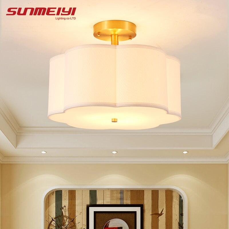 Modern Flower Shaped LED Ceiling Lights For Corridor Bedroom vintage E27 luminaire plafonnier led Light Fixture Decoration