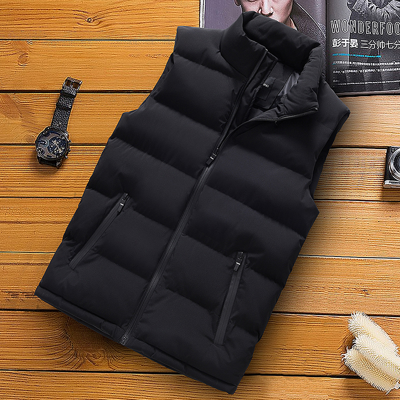 classic light men vest down korean streetwear clothing casual travel jackets male cloth vintage winter warm coat vests for men (11)