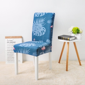 Leaves Print Blue Turquoise Spandex Chair Covers 3 Chair And Sofa Covers