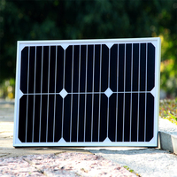 Xinpuguang 5pcs 18W 20V solar panel quality Tempered Glass Alu Frame back contact charge 12V street led battery Roof Battery