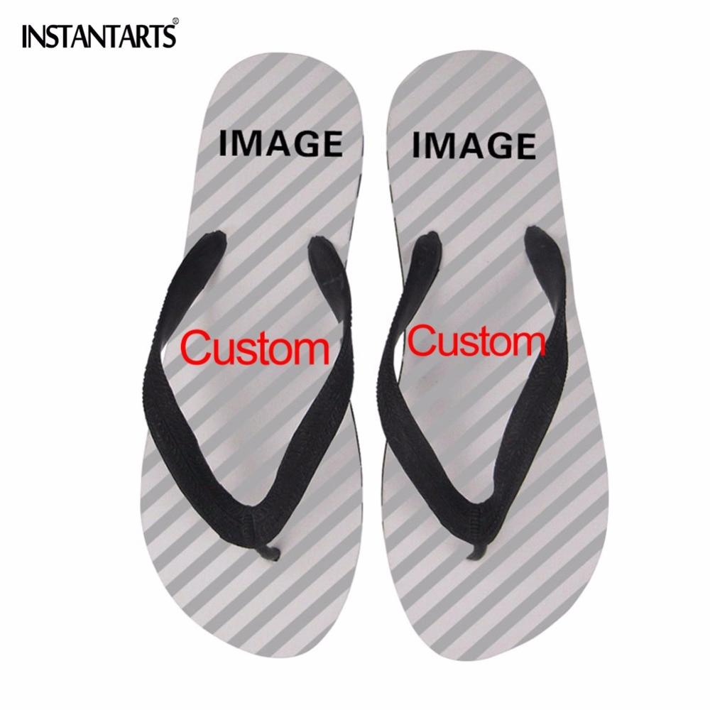 INSTANTARTS Sandals Flip-Flops Water-Slippers Customized Women Outside Female Beach Summer