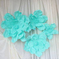 4PCS SET Artificial Magnolia High End Wedding Stage Decoration Foam Flower Arrangement Welcome Area Home Decoration
