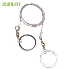 JUFIT Small Lightweight Hand Chain Saw Stainless Steel Wire Saw Outdoor Practical camping Emergency Survival Gear Tools practical emergency hand chain saw survival gear manual stainless steel wire saw ring travel outdoor camping hiking tool