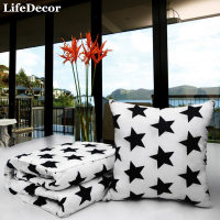 110*150cm Asia Star AB Version Combed Cotton Stuffed Air Conditioning Blanket Quilt Car Dual Cushion Pillow