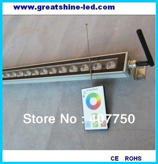 Newest product RF control rgb 30w led wall washer control range 100m AC110V/220V used for building lighting decoration free shipping to north america rgb 3in1 super thin led wall washer 24x3w dc 24v 4wires 10pcs lot used for commercial decoration