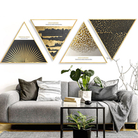 Triangular Decoration Painting Wall Pictures For Living Room Canvas Art Wall Art Canvas Framed Abstract Bedroom Bathroom