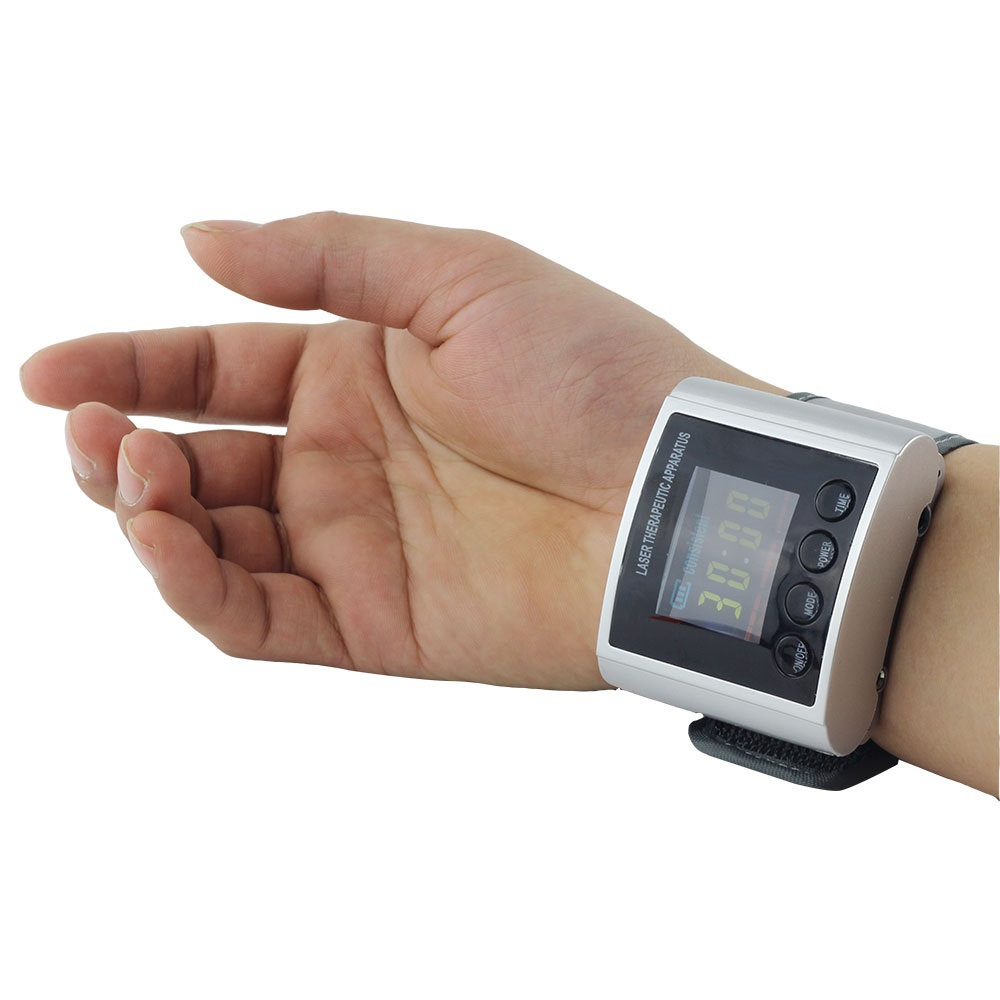 ФОТО New CE products 2016 innovative product 650nm Low level laser wrist watch blood-pressure device