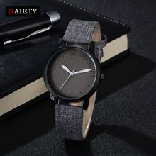 Gaiety Brand Hot Vintage Jeans Strap Watch For Women Men Leather Wristwatch Fashion Casual Ladies Student Sport Watch G470