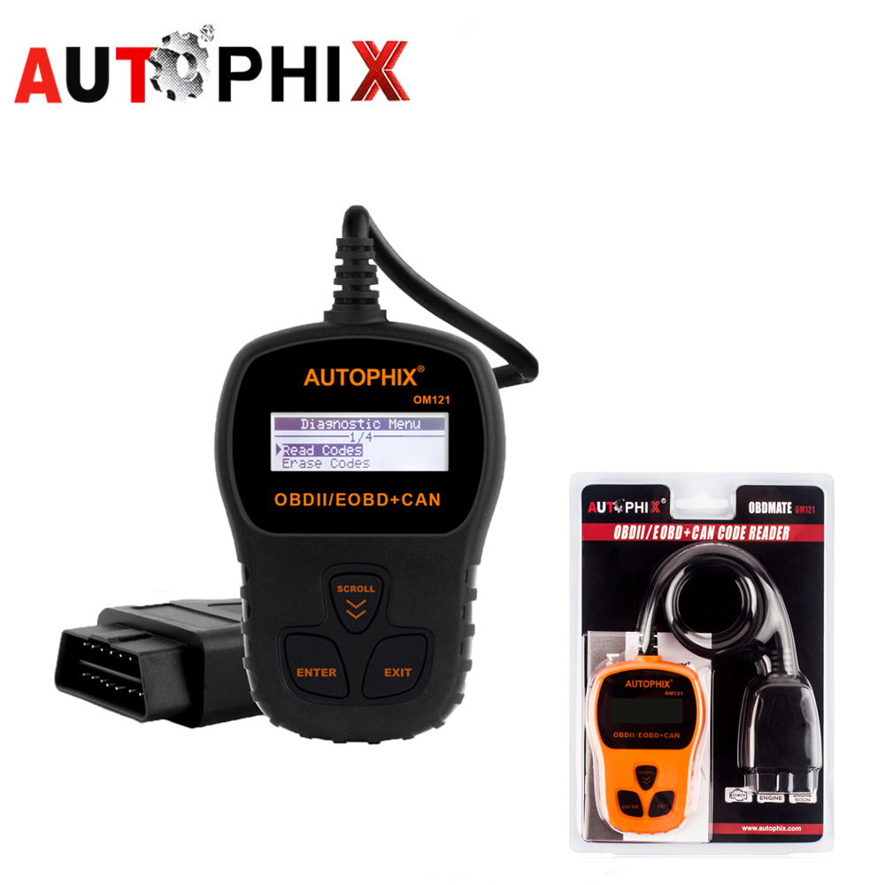 AUTOPHIX OM121 ODB 2 Autoscanner Car Diagnostic Scanner OBD Automotive Scanner OBD2 Scanner ODB2 Scan Tools Code Readers Autosca купить в Москве 2019