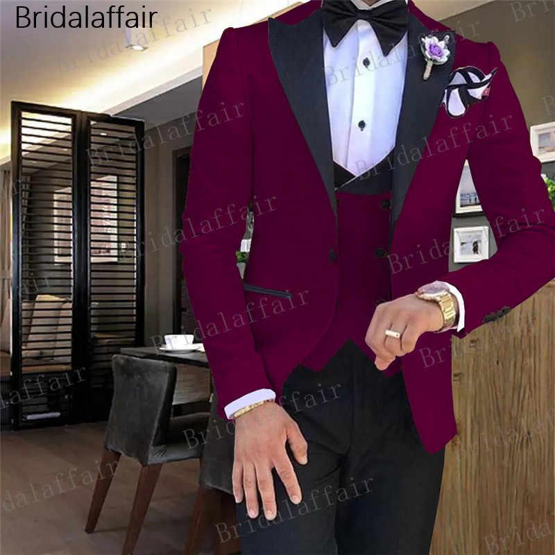c335644a2 Plyesxale 2019 primavera otoño hombres trajes boda novio traje Homme ...