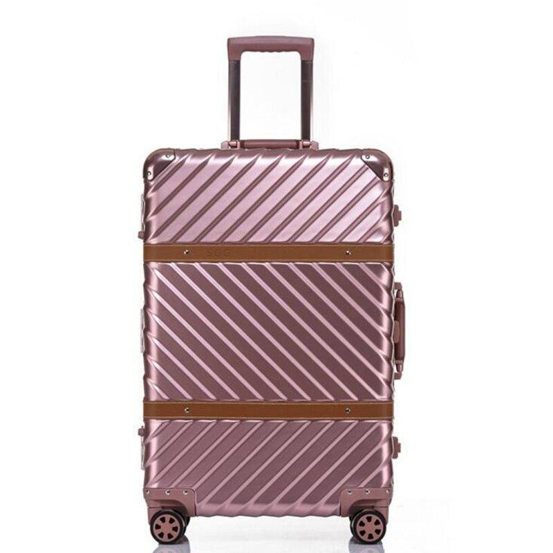 "Carrylove 20 ""24"" 26 ""29"" marco de aluminio equipaje de viaje maleta de viaje de lado duro bolsa de viaje sobre ruedas-in Equipaje de ruedas from Maletas y bolsas    2"