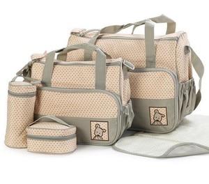 Image 2 - MOTOHOOD 39*28,5*17 см, 5 шт., сумка для подгузников для мамы, держатель для детской бутылочки, Мамины коляски, наборы сумок для подгузников для беременных