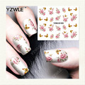YZWLE 1 Sheet DIY Decals Nails Art Water Transfer Printing Stickers Accessories For Manicure Salon YZW-8193