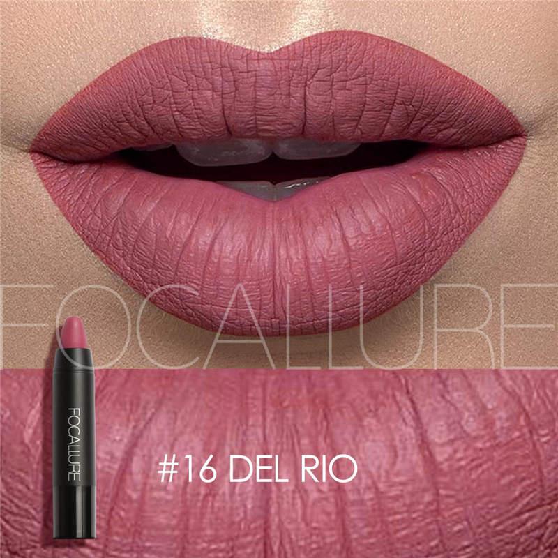 Focallure 19 Colors Matte Lipstick Lips Makeup Lipgloss Long Lasting Lip Tint Stick Cosmetics Beauty Fashion Women Nude Lips