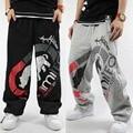 Hip Hop Más Tamaño pantalones Anchos de La Pierna del Hombre Casual Pantalones Baggy Trousers Hip Hop Jazz Pantalones Sueltos Pantalones Anchos de La Pierna 2016 Caliente de Alta Calidad