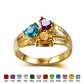DIY Personalized Birthstone Promise Rings 925 Sterling Silver Cubic Zirconia Ring Fashion Names Ring For Mom Jewelry