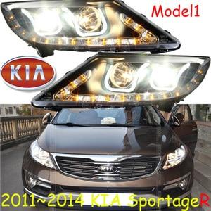 Image 1 - KlA SportageR faro delantero, 2011 ~ 2014, luz diurna SportageR, accesorios para coche, sportage,sportage R, envío gratis