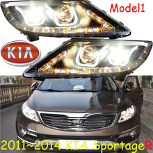 KlA SportageR headlight,2011~2014 (Fit for LHD and RHD),Free ship!SportageR daytime light,2ps/se+2pcs Aozoom Ballast;