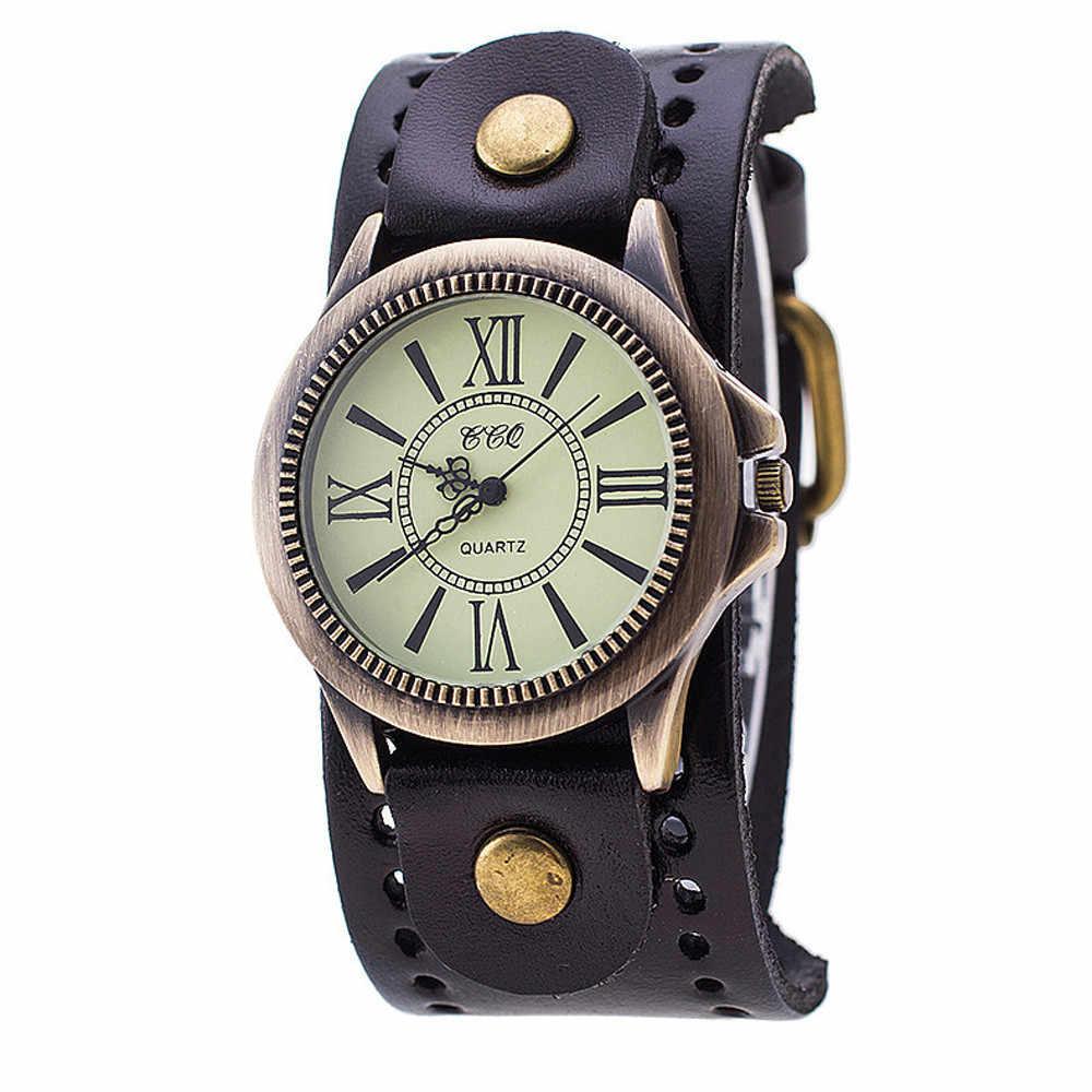 b5f553f5a9d CCQ Прямая доставка CCQ брендовые кожаные винтажные часы мужские женские  наручные кварцевые часы мужские apr24