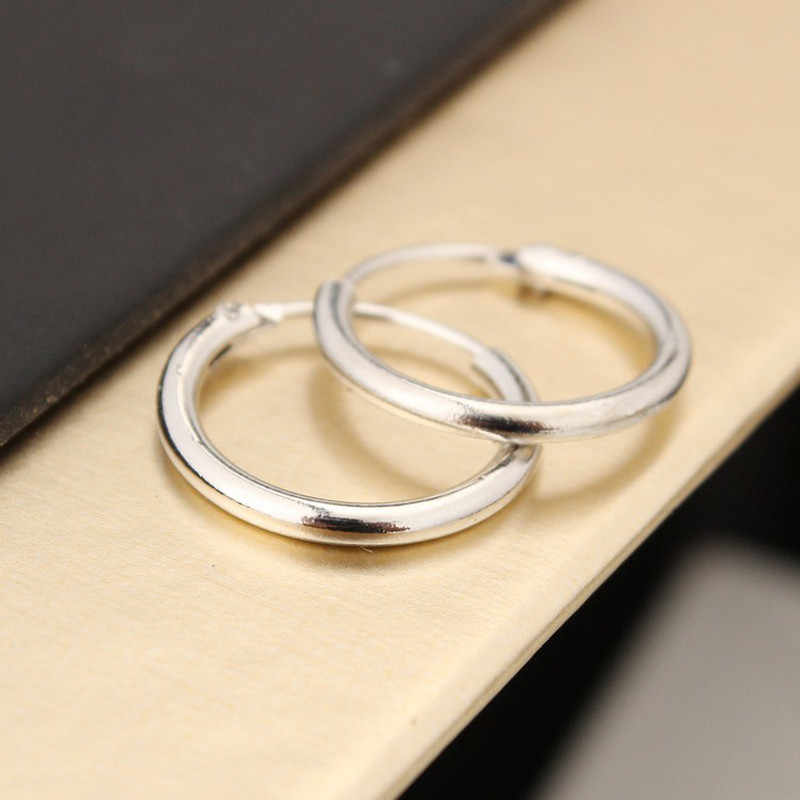 Mens 10mm 12mm Round Circle Hoop Earrings Lovers Circle Ear Ring Earrings For Women Hip Hop Hoop Earrings South Korea Jewelry
