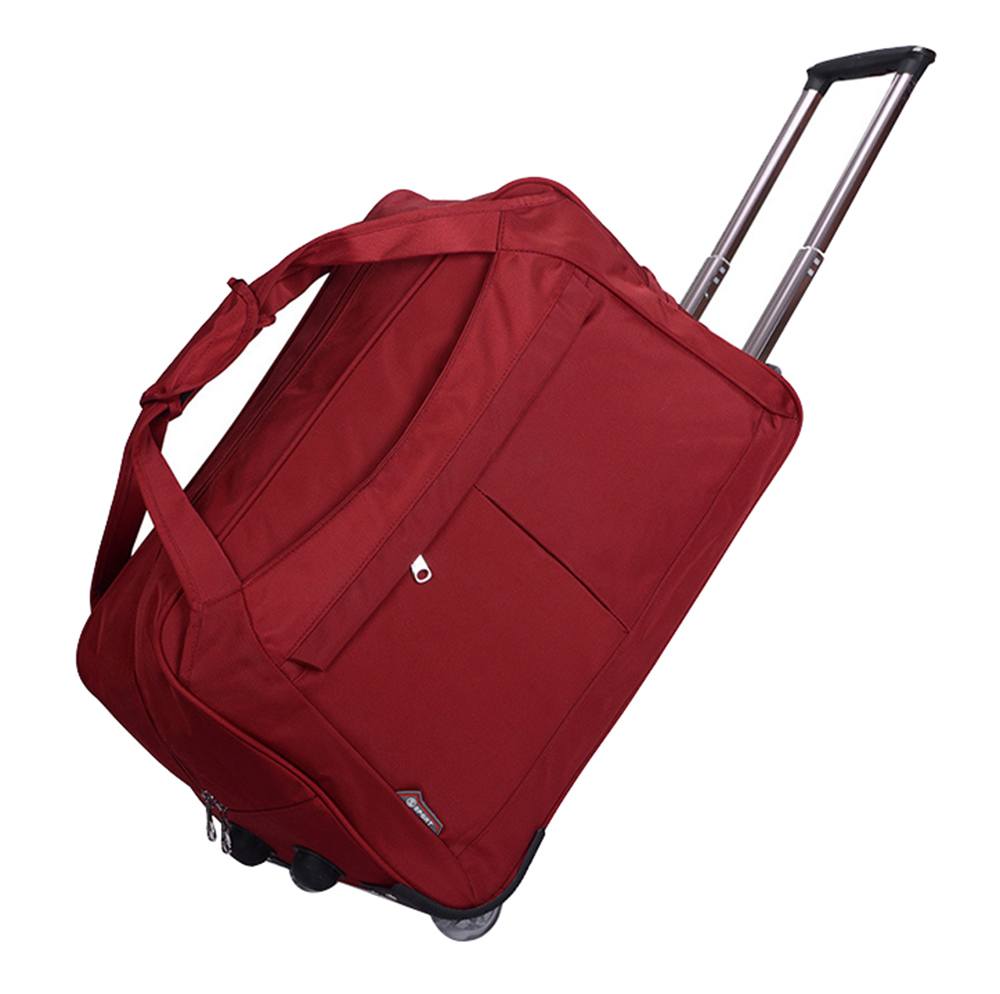 Large Size Wheel Luggage Metal Trolley Bags Womens Travel Bag Hand Trolley Bag Travel Suitcase Board Chassis