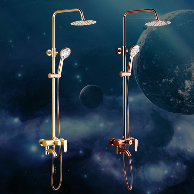 Dofaso Bathroom Luxury Rain Mixer Shower Combo Set Wall Mounted
