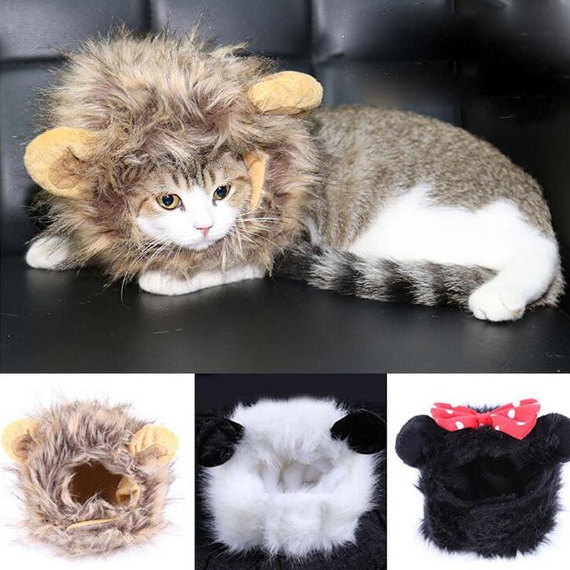 2016 Hot Cat Lion Panda Mickey Mane Wig Cat զգեստների - Ապրանքներ կենդանիների համար