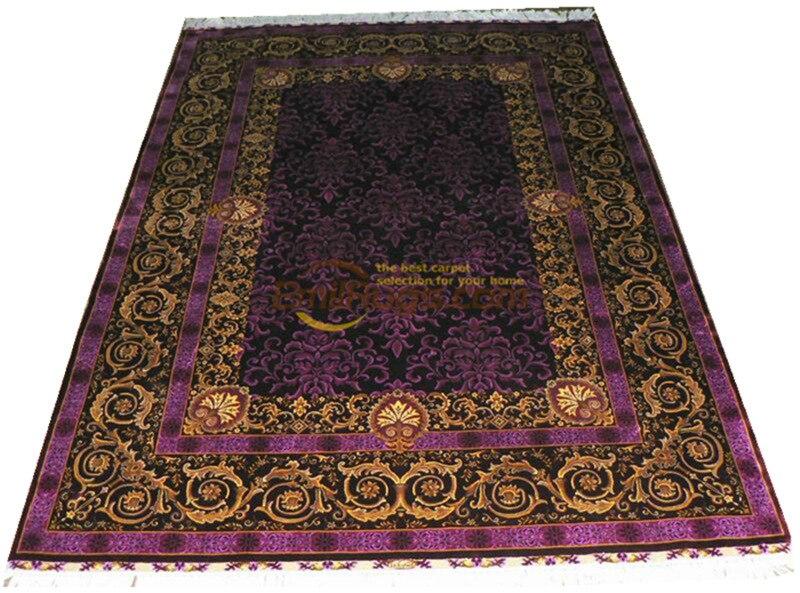 Laine ou soie persan fait main Crochet tissu d'ameublement maison pour salon laine tricot tapis Antique tapis - 4