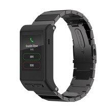 Regalo hermoso nuevo clásico hebilla de moda correa de reloj de pulsera de acero stailess banda para garmin vivoactive aug24 hr envío libre