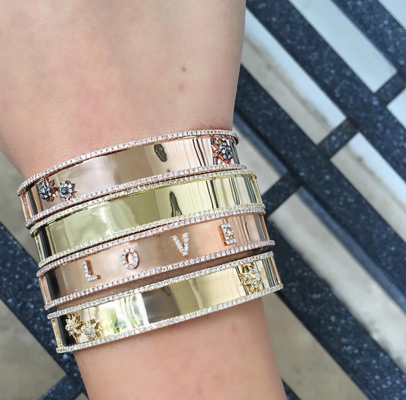Gold Wide Band Open Bangle...